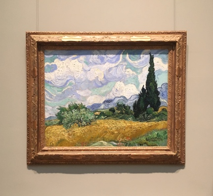 Wheat Field with Cypresses, Vicent van Gogh, 1889.