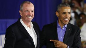 O novo governador de NJ, apoiado por Obama