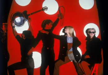 Photo by Hervé Gloaguen, Andy Warhol and the Velvet Underground (With John Cale, Gérard Malanga, Nico), NY, 1966. Courtesy Galerie Arcturus and the artist.