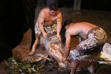 O porco assado no método Kalua. Foto: Adriana Ziemer