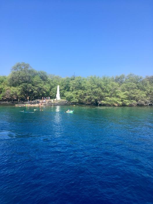 Monumento do Cook, na Kealakekua Bay