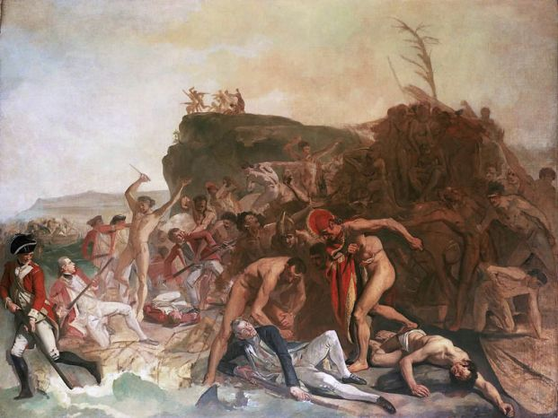 The death of Captain James Cook by Johan Zoffany, 1779, Viena Museum